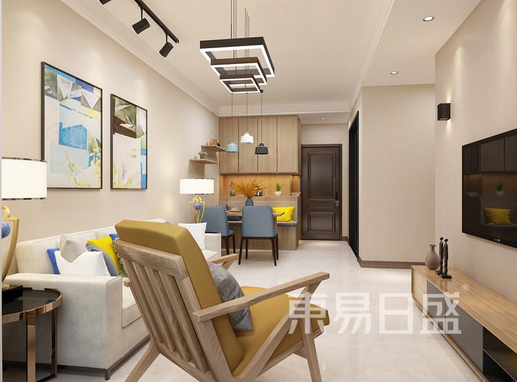 青岛装修公司-简约风设计案例-客厅装修效果图