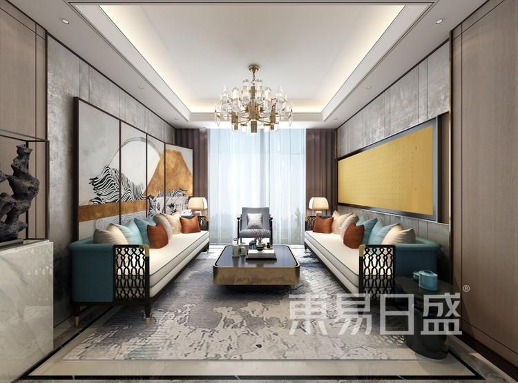 青岛装修公司-现代风设计案例-客厅装修效果图