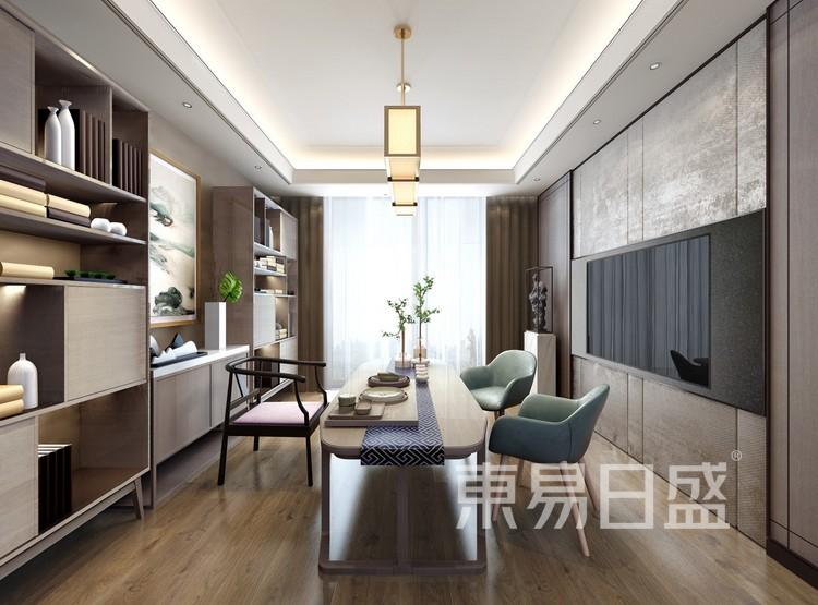 青岛装修公司-现代风设计案例-餐厅装修效果图