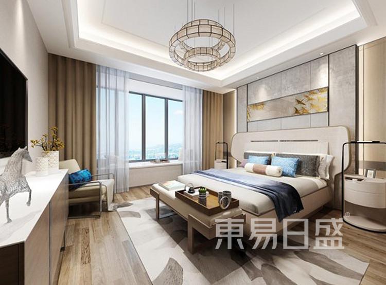 青岛装修公司-现代风设计案例-卧室装修效果图