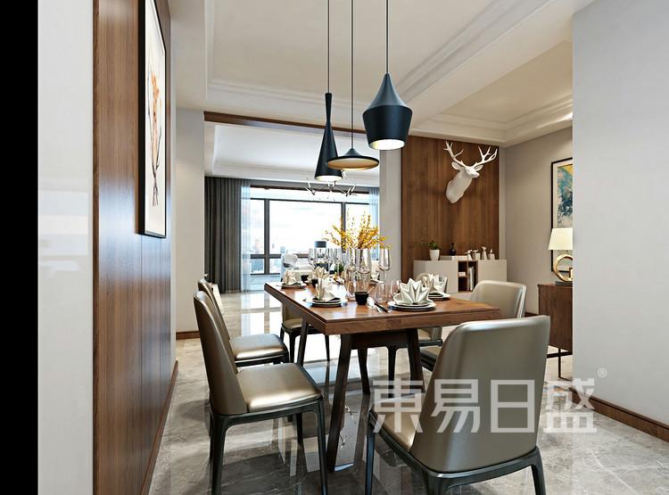 青岛装修公司-现代简约设计案例-餐厅装修效果图
