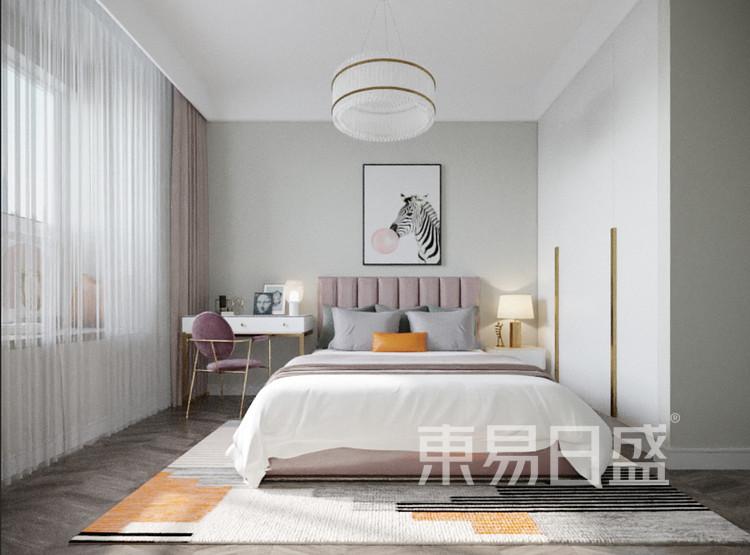 青岛装修公司-轻奢设计案例-卧室装修效果图