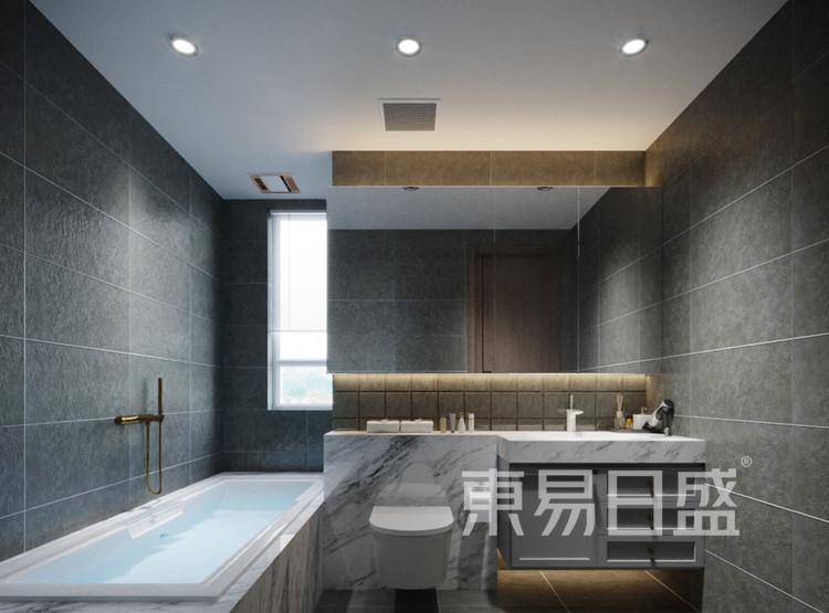青岛装修公司-轻奢设计案例-卫生间装修效果图