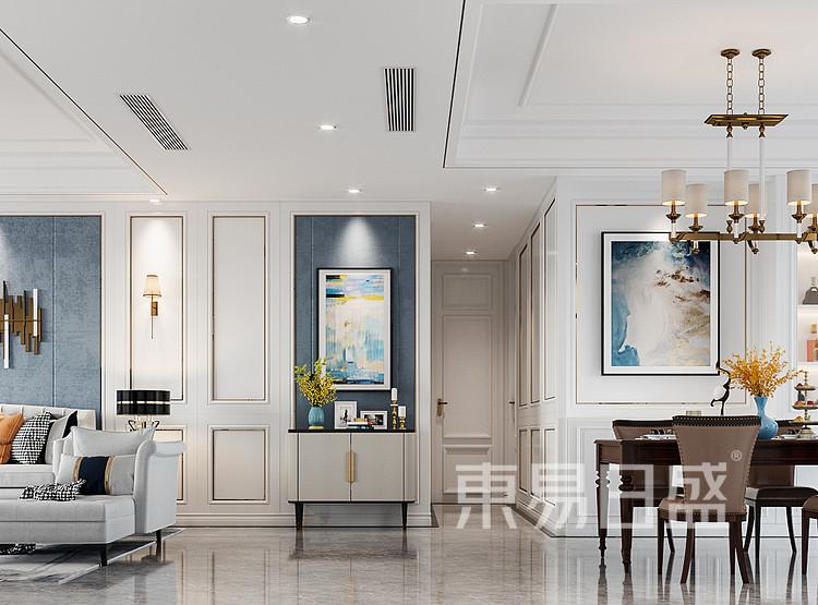 青岛装修公司-轻奢设计案例-门厅装修效果图