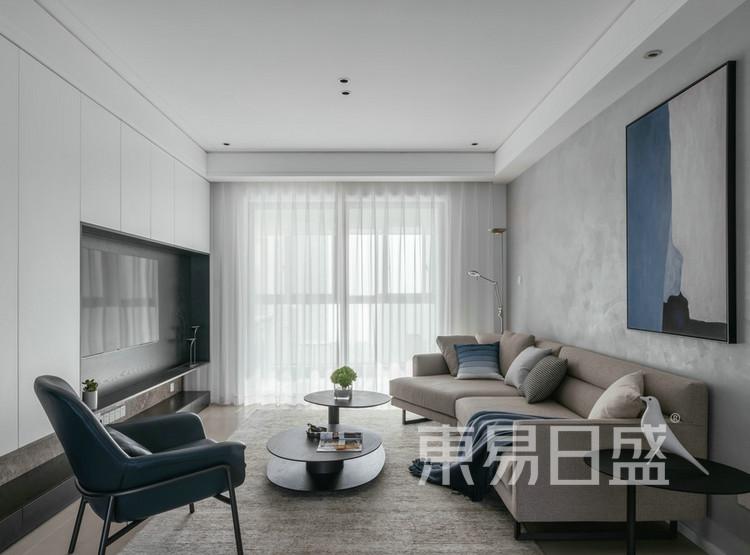 君胜熙珑山-现代简约-客厅效果图