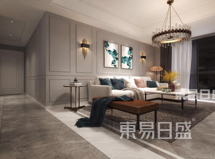 中洲崇安府4室2厅轻奢风—客厅
