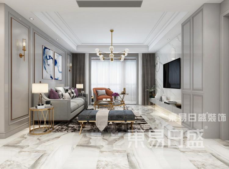 中洲崇安府4室2厅美式风格—客厅