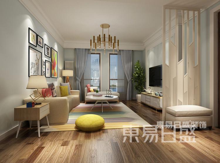 保利融侨时光印象4室2厅简美混搭——客厅