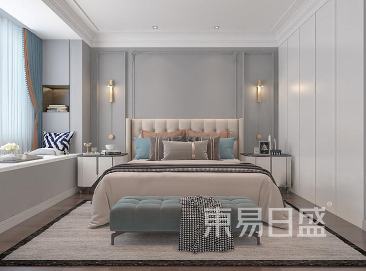 中洲崇安府混搭风格装修效果图——卧室