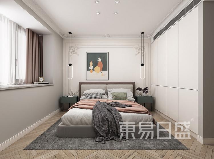 中海寰宇天下法式轻奢风格装修效果图——卧室