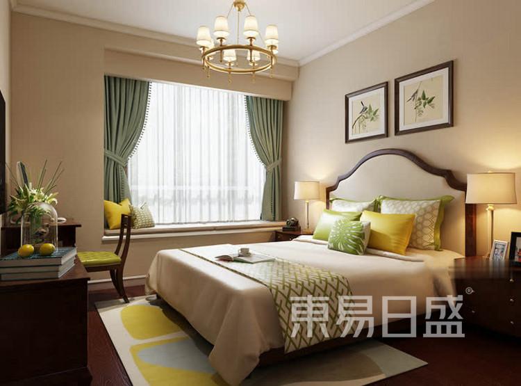 中海寰宇天下美式风格装修效果图——卧室