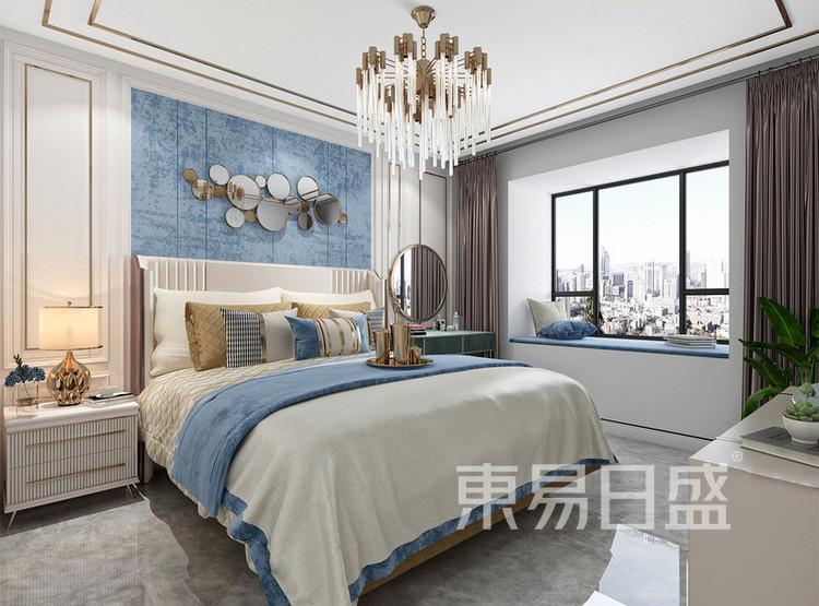 长泰国际美式轻奢风格装修效果图——卧室