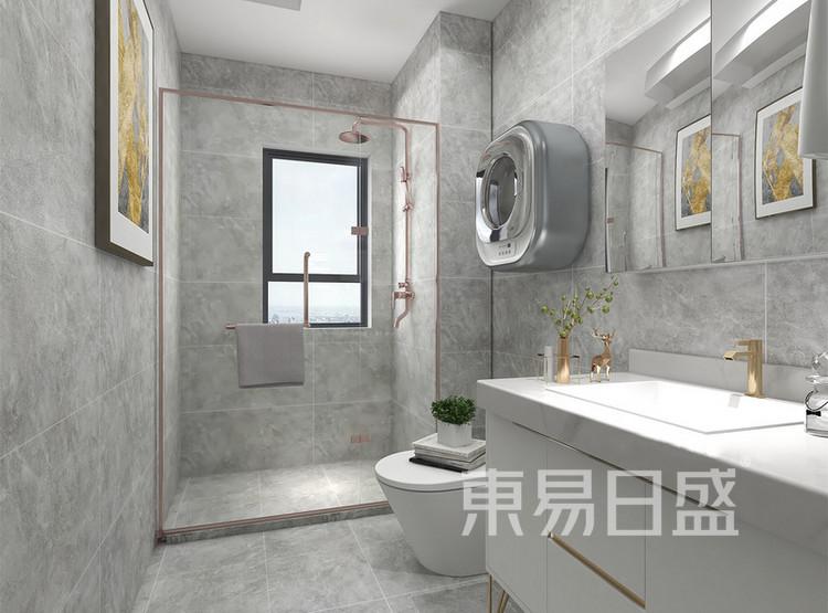 长泰国际美式轻奢风格装修效果图——卫生间