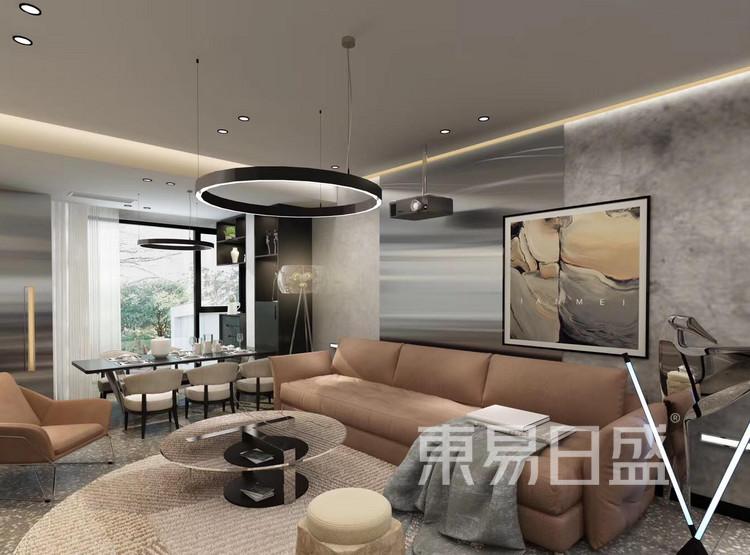 龙湖·景粼玖序-欧式风格-客厅装修设计案例
