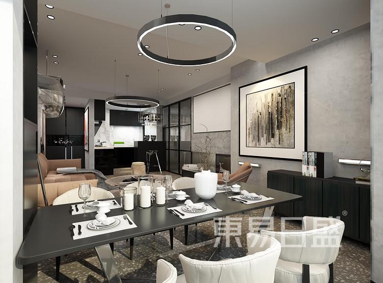 龙湖·景粼玖序-欧式风格-餐厅装修设计案例