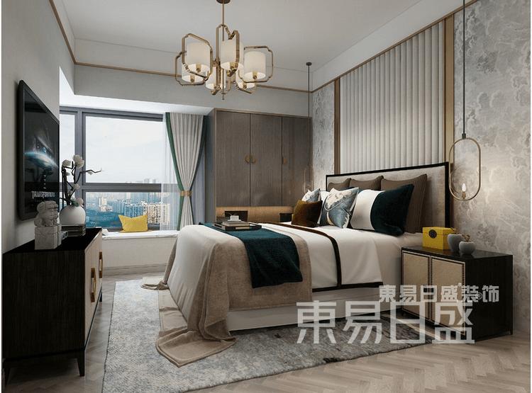 奥园观湖尚居-新中式-卧室装修效果图