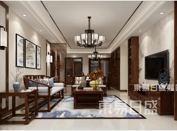 新中式-客厅装修效果图