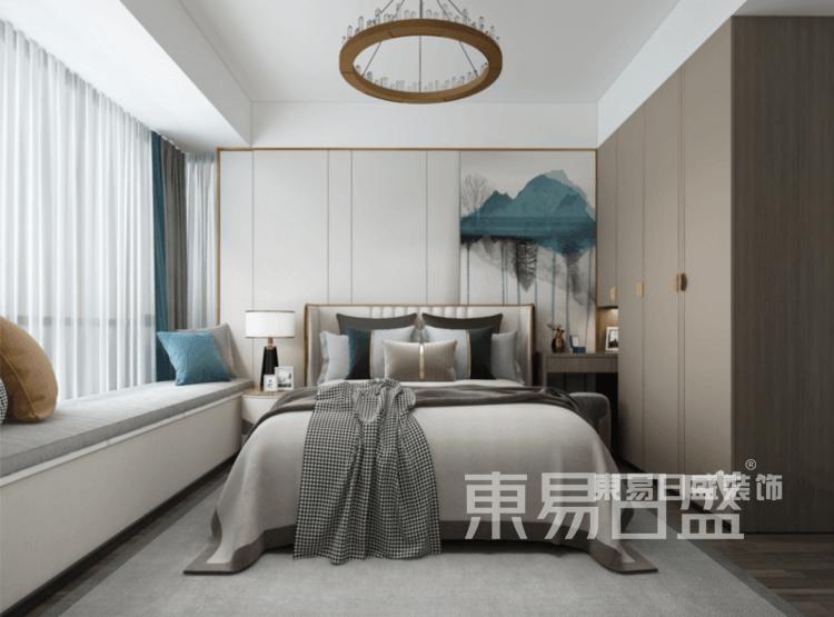 新中式-卧室装修效果图