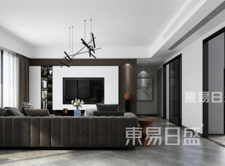 现代轻奢-客厅装修效果图
