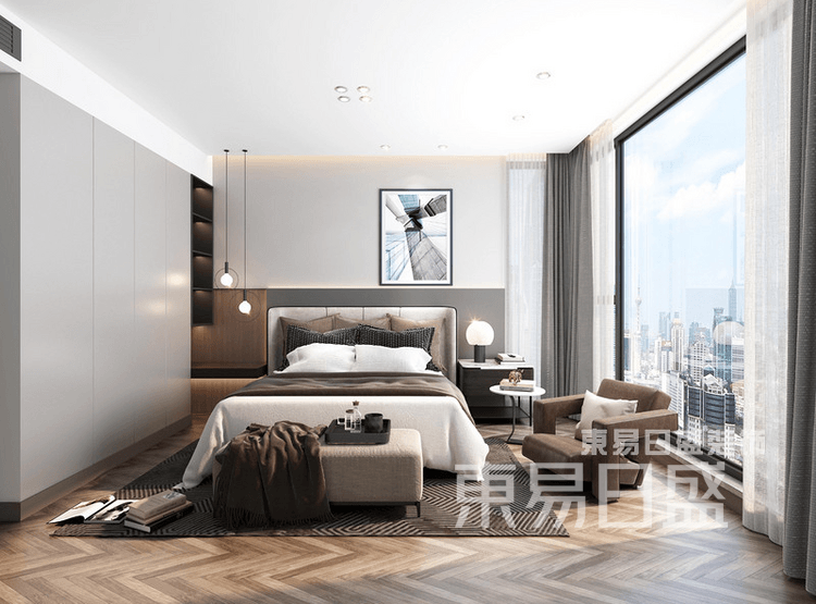 现代极简-卧室装修效果图