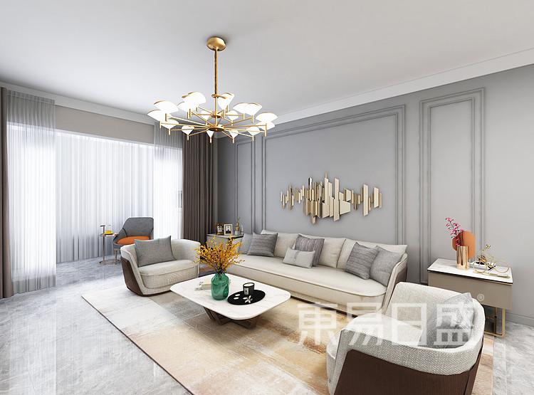 法式混搭风格客厅装修设计