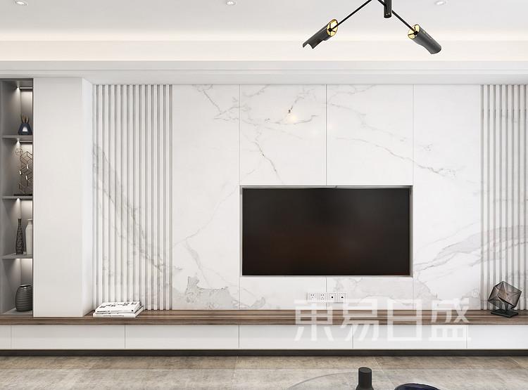 裕富苑-现代简约客厅装修效果图