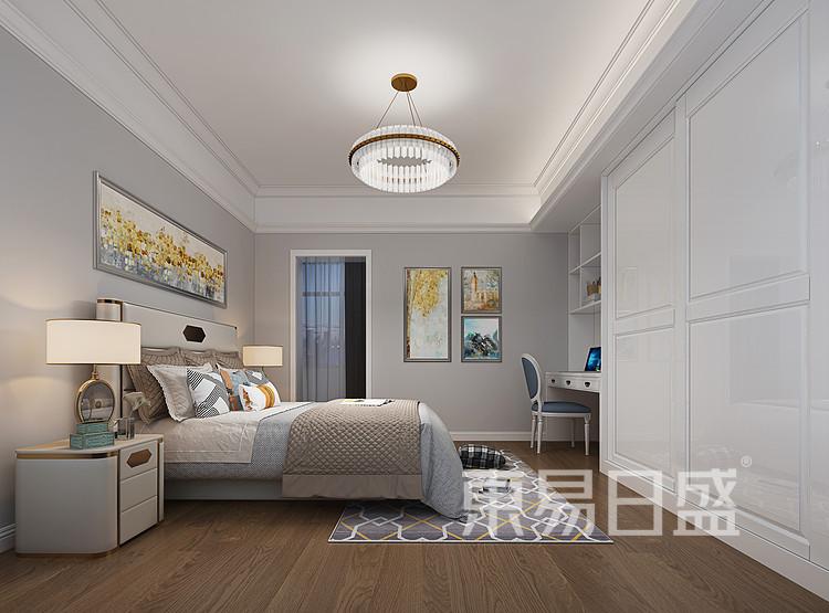 御峰园-简欧-卧室装修设计效果图