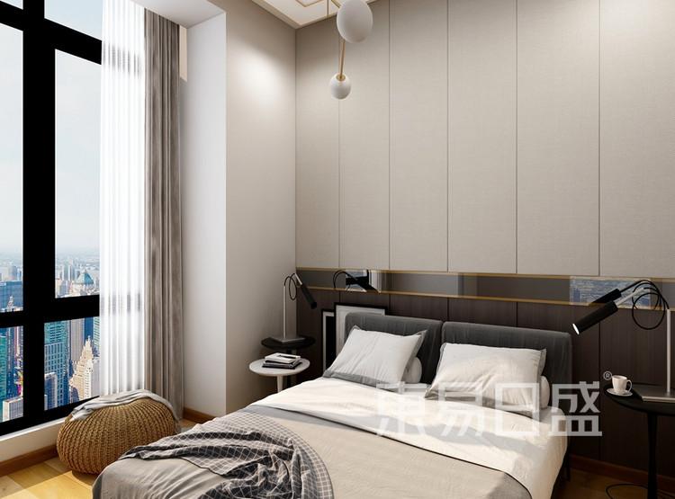 联泰滨江中心-现代风格-二居室卧室装修效果图