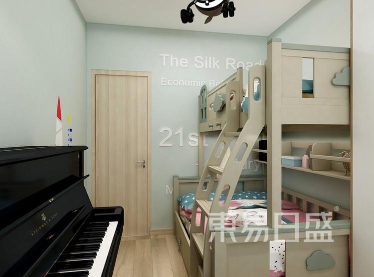 中建大公馆98平米现代风格儿童房装修效果图