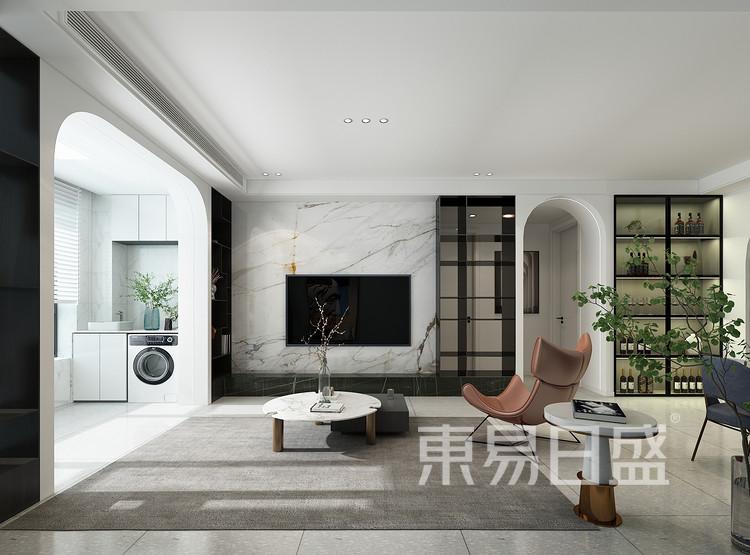 现代轻奢风格客厅装修效果图