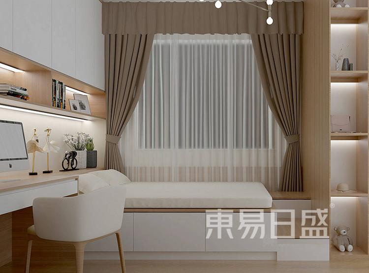 安亭新镇三居室111平现代轻奢风装修设计案例——卧室