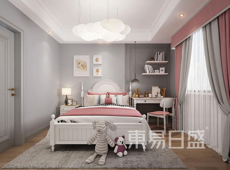 云麓里90三居室现代美式装修设计案例——卧室