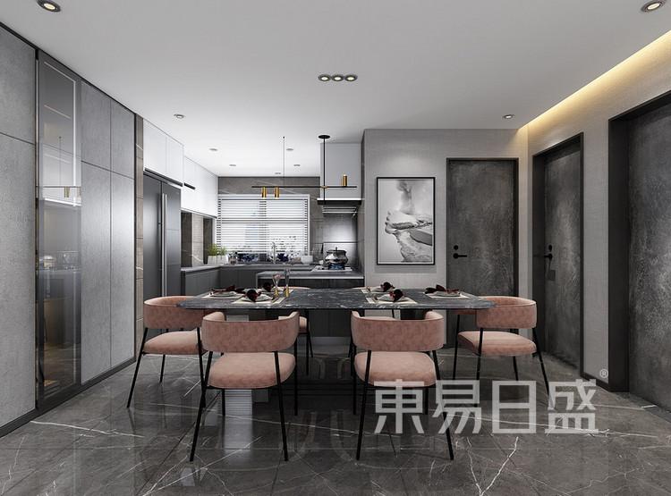 云麓里90平三居室现代简约风格装修案例——餐厅
