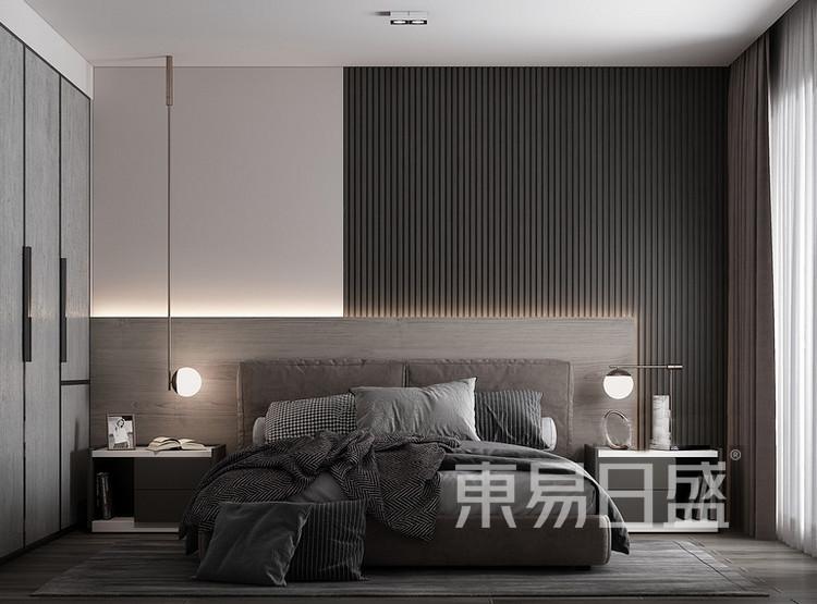 云麓里90平三居室现代简约风格装修案例——卧室