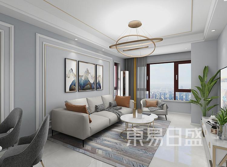 现代轻奢风格客厅装修图