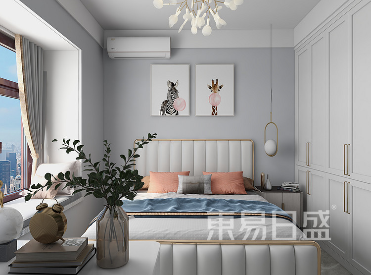 现代轻奢风格卧室装修图