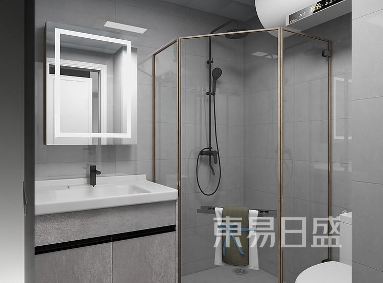 现代轻奢风格卫生间装修图