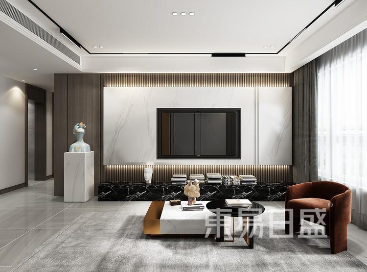 现在轻奢风格客厅装修效果图