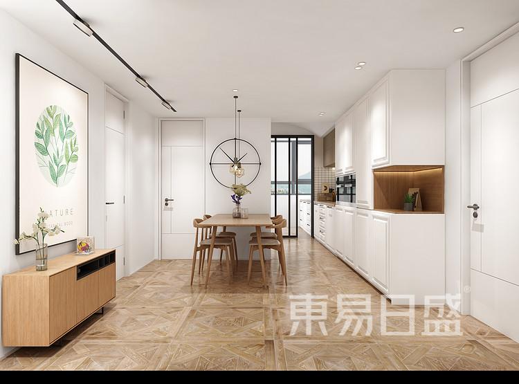 华侨城嘉陵江天-北欧风格-餐厅装修效果图