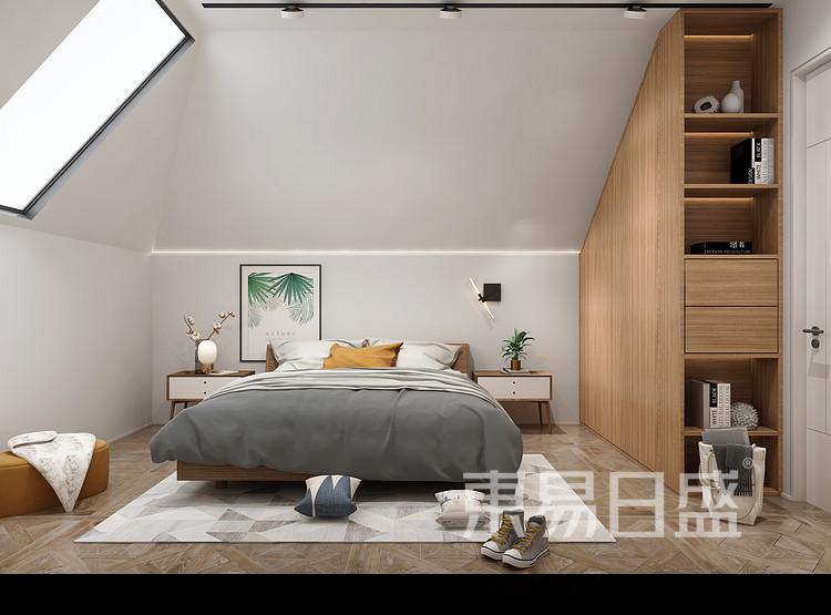 华侨城嘉陵江天-北欧风格-卧室装修效果图