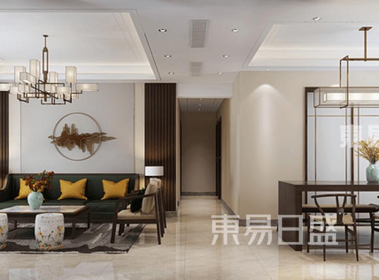 现代中式风格-客厅装修效果图