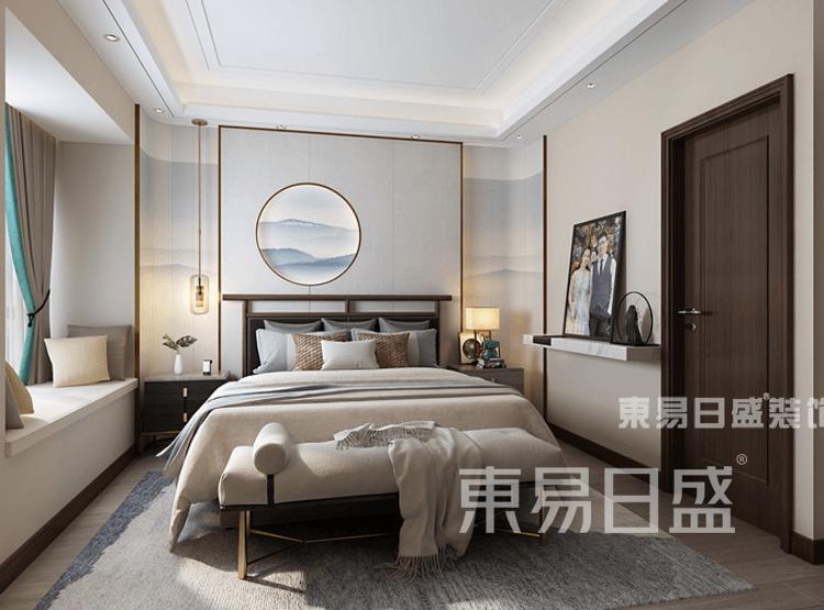 现代中式风格-卧室装修效果图