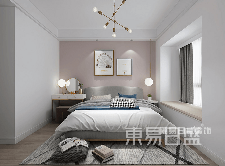 北欧风格-卧室装修效果图