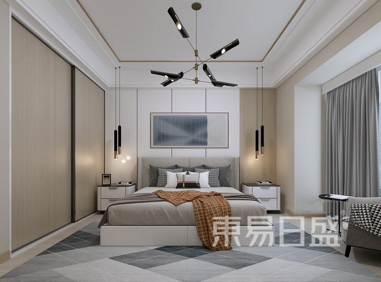 安亭新镇117平现代简约三居室装修设计案例——卧室