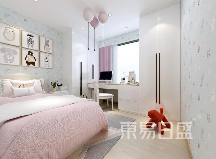 安亭新镇117平现代简约三居室装修设计案例——儿童房