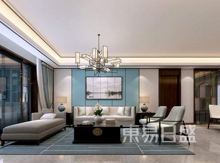 安亭新镇120平三居室新中式风格装修案例——客厅