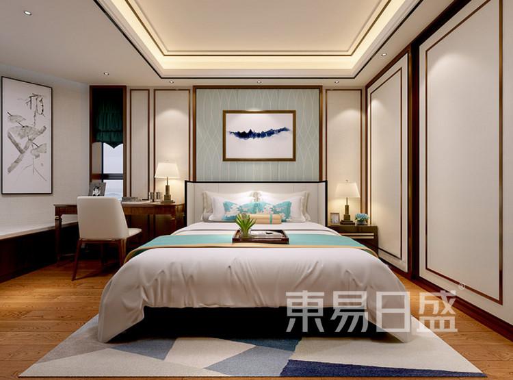 安亭新镇120平三居室新中式风格装修案例——卧室