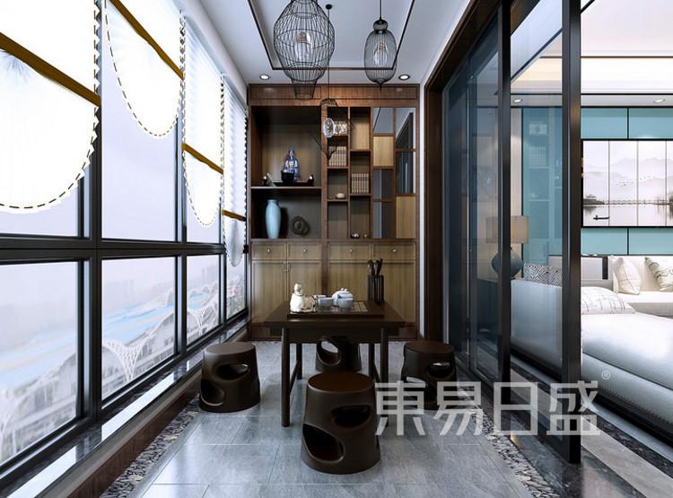 安亭新镇120平三居室新中式风格装修案例——书房