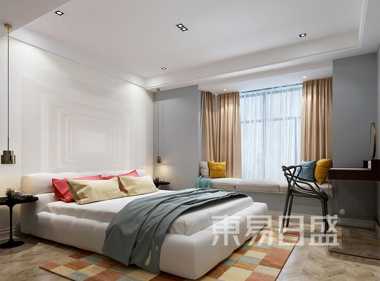 安亭新镇110平三居室风混搭装修设计案例——卧室
