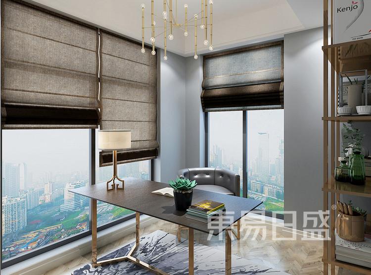 安亭新镇110平三居室风混搭装修设计案例——书房